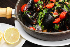 Mussel Stew Royalty Free Stock Photography