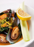 Mussel and vegetable Stock Photo