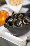 mussells βρασμένος στον ατμό Στοκ φωτογραφία με δικαίωμα ελεύθερης χρήσης