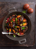 Mussels with bean and herbs Royalty Free Stock Image