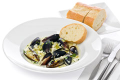 Mussels with Bluecheese royalty free stock image