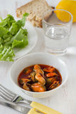 Mussels in the bowl Royalty Free Stock Image