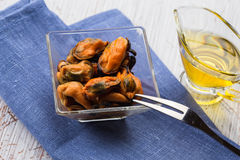 Mussels in bowl Royalty Free Stock Photos