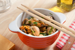 Mussels bowl Royalty Free Stock Images