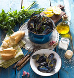 Mussels with buzara sauce Royalty Free Stock Photos