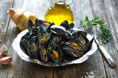Mussels with buzara sauce Stock Photography