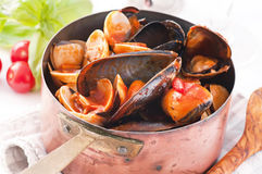 Mussels cooked Royalty Free Stock Photography