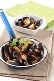 mussels dekatyzowali Zdjęcie Royalty Free