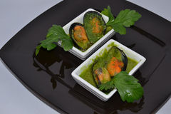 Mussels. Delicacy healthy dinner food Royalty Free Stock Photography
