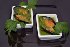 Mussels. Delicacy healthy dinner food Stock Images