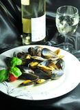 Mussels dish Stock Photos