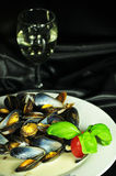 Mussels dish Royalty Free Stock Photography