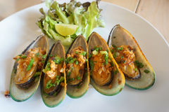 Mussels dish Royalty Free Stock Images