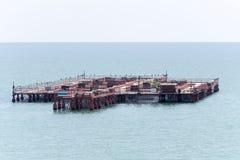 Mussels farm, Black Sea Stock Photo