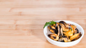 Mussels (with fresh herbs) Stock Photos