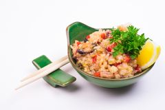 Mussels fried rice Royalty Free Stock Photos