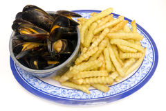 Mussels And Fries Stock Photography
