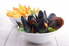 Mussels i francuscy dłoniaki zdjęcie royalty free