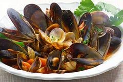Mussels i milczkowie Zdjęcia Royalty Free
