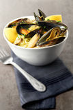 Mussels And Linguine II Stock Photos
