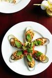 mussels matrycują biel Obrazy Stock