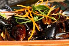 Mussels na talerzu Obrazy Royalty Free