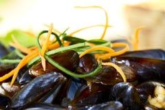 Mussels na talerzu Zdjęcie Royalty Free