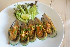 Mussels naczynia zbliżenie Obraz Stock