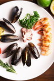 Mussels and other seafood Royalty Free Stock Photography