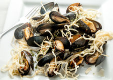 Mussels with Pasta Royalty Free Stock Image