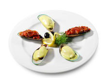 Mussels Plate Royalty Free Stock Image