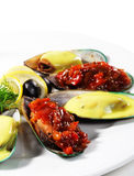Mussels Plate Royalty Free Stock Photo