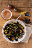 Mussels on plate Royalty Free Stock Photography