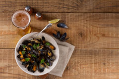 Mussels on plate Royalty Free Stock Photos