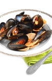 Mussels And Red Peppers Stock Photos