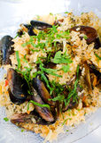 Mussels with rice Royalty Free Stock Image