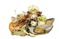 mussels sałatki garnela Fotografia Royalty Free