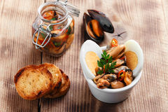 Mussels salad Royalty Free Stock Photos