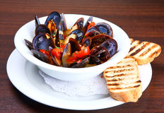 Mussels saute Royalty Free Stock Images
