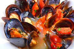 Mussels saute Stock Photo