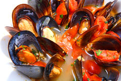 Mussels saute (ragout) Stock Photo