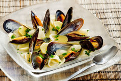 Mussels soup Royalty Free Stock Photo