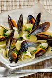Mussels soup Royalty Free Stock Photography