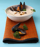 Mussels soup Stock Photo