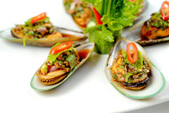 Mussels spicy Royalty Free Stock Photo
