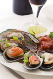 Mussels with Tomato Stock Photo