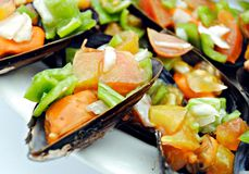 mussels trzy warzywa Obrazy Stock