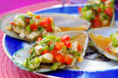 Mussels with vegetables Royalty Free Stock Image
