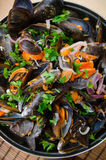 Mussels with vegetables Stock Photography