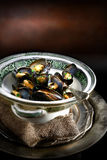 Mussels in Victorian Terrine Dish Royalty Free Stock Photos
